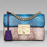 All Match Crossbody Bag  Alligator Print Hasp Versatile Shoulder Bag
