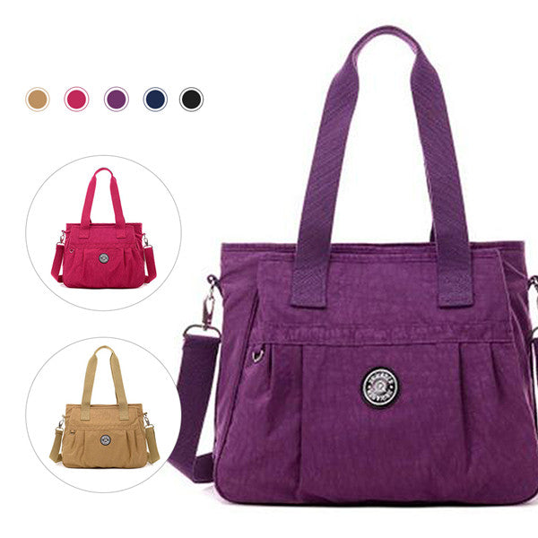 Women's Lightweight Multi-functional Nylon Zipper Shoulder Bag