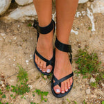 Women's Black Light Gladiator Sandals