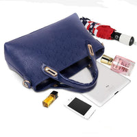 4 PCS Solid Handbag Shoulder Bag Purse Wallet
