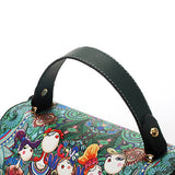 Bohemian Forest Green Cover Crossbody Bag PU Leather Handbag