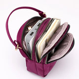 Nylon Waterproof Multi- Slot Crossbody Bag Mini Portable Phone Bag