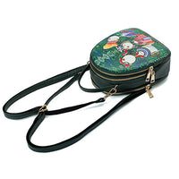 Bohemian Forest Multi-function Backpack Crossbody Bag
