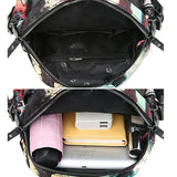 Print Faux Leather Shoulder Bag Backpack For Women