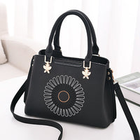 Women Faux Leather Boston Handbag Tote Bag Crossbody Bag