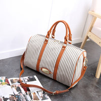 Canvas Stripe Large Capacity High-end Luggage Bag Travel Bag