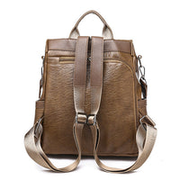 Faux Leather Large Capacity Backpack Multi-function Shoulder Bag