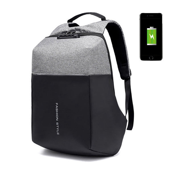 Anti-theft Oxford 17 Inch Laptop USB Charging Port Backpack