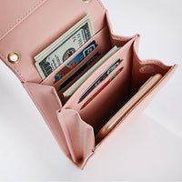 Pierreloues PU Leather Card Holder 6inch Phone Bag Crossbody Bag