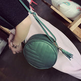 Women's Crossbody Bag Stylish Solid Color All Match Tassel Bag