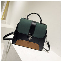 Women's Handbag Colorblock Vintage Stylish Versatile Crossbody Bag