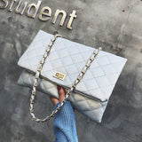 Women's Crossbody Bag Solid Color Rectangle Shape Chain Bag