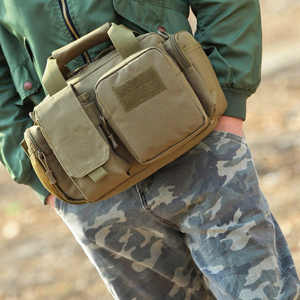 4573f73d0b2 Men Outdoor Canvas Multi-function Crossbody Bag Camouflage Waist Bag –  luckinbag