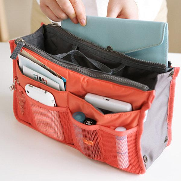 Travel Insert Handbag Nylon Large Organizer Tidy Bag Cosmetic Bag