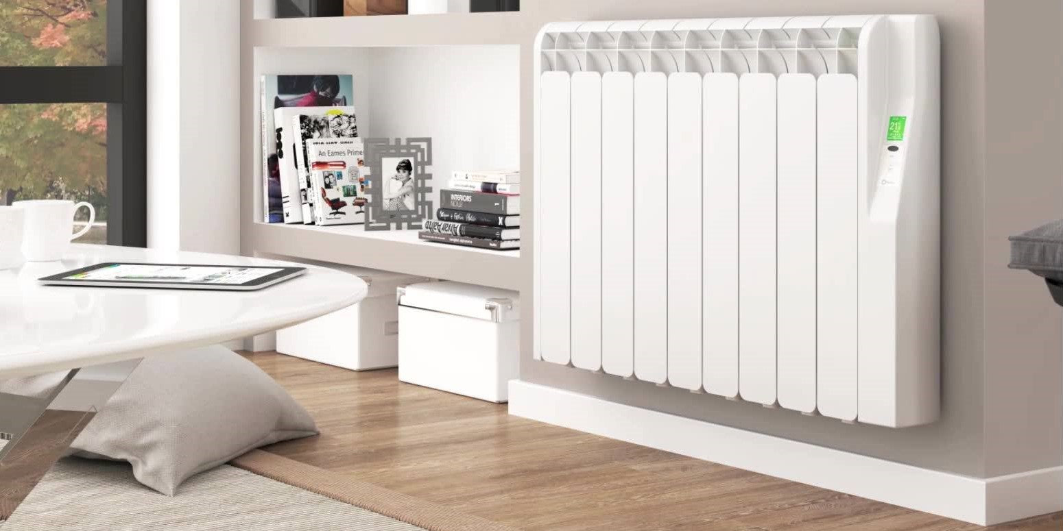 Image of a Rointe radiator in a living room