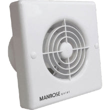 Manrose QF100T 4.8W Quiet Axial Bathroom Extractor Fan with Timer