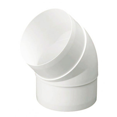 Manrose 44450 100mm/4inch. Low Profile 45° PVC Bend Connector White