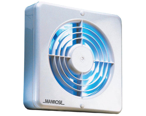 Manrose 150mm (6inch.) PIR Axial Extractor Window Fan - WF150BPIR