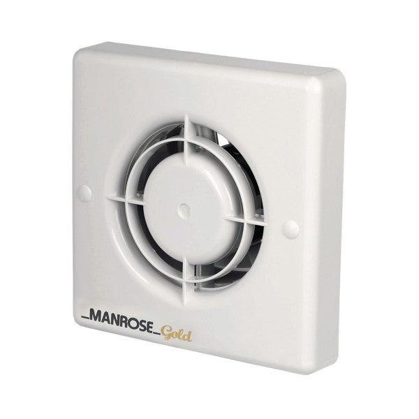 Manrose 12W Gold Axial Bathroom Extractor Fan with Pullcord - MG100P