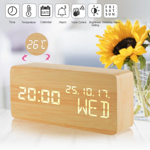 Wood Digital Alarm Clock
