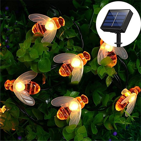 Solar Power Bee String Lights