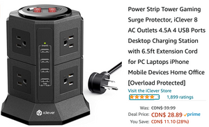 Amazon Canada Deals: Save 28% on Power Strip Tower Gaming Surge Protector + 40% on Vacuum Sealer Machine + More Offer