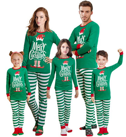 Matching Christmas pajamas for the family