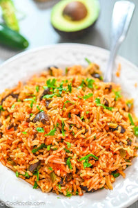 This Baked Rice and Beans are so flavorful and light