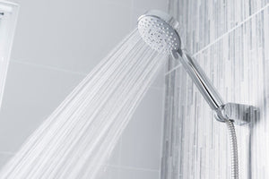 A high-pressure handheld showerhead can ensure that you take a refreshing shower even when the water flow is low