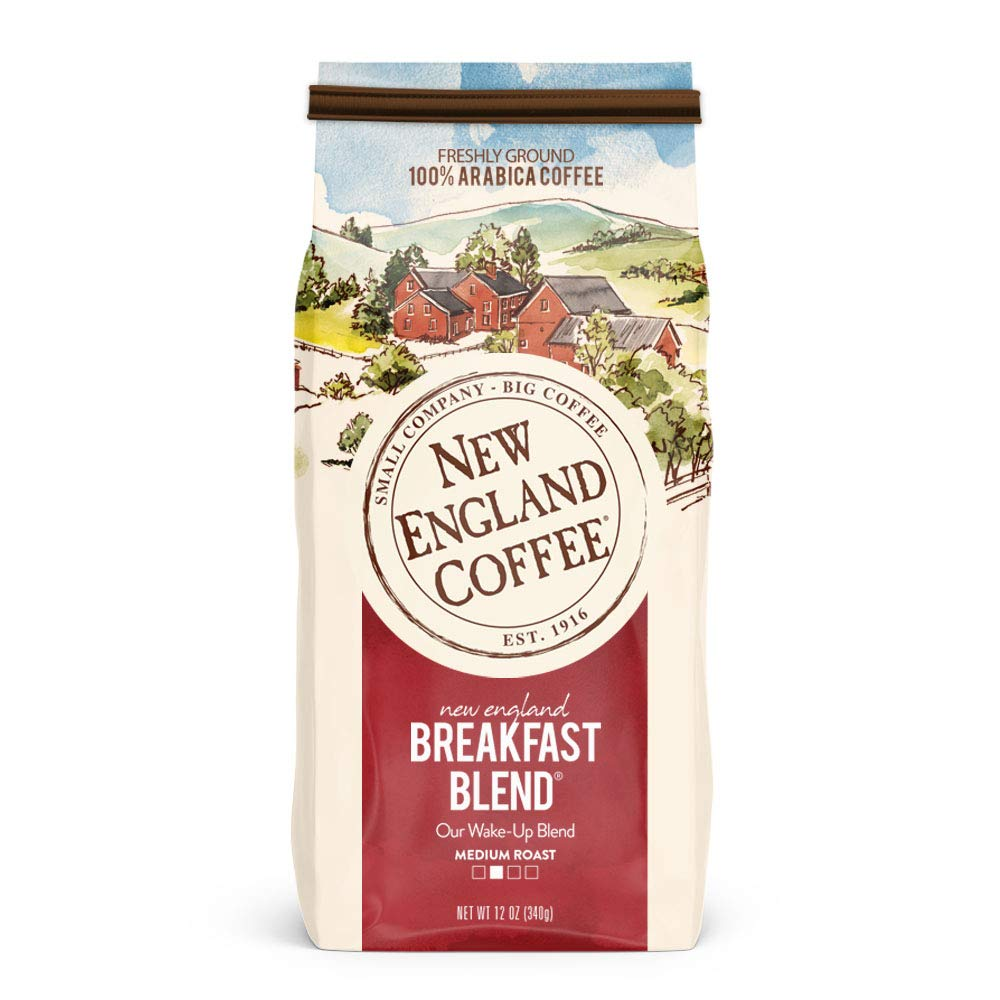 New England Coffee New England Breakfast Blend, Medium Roast Ground Coffee, 12 Ounce (1 Count) Bag $3.78
