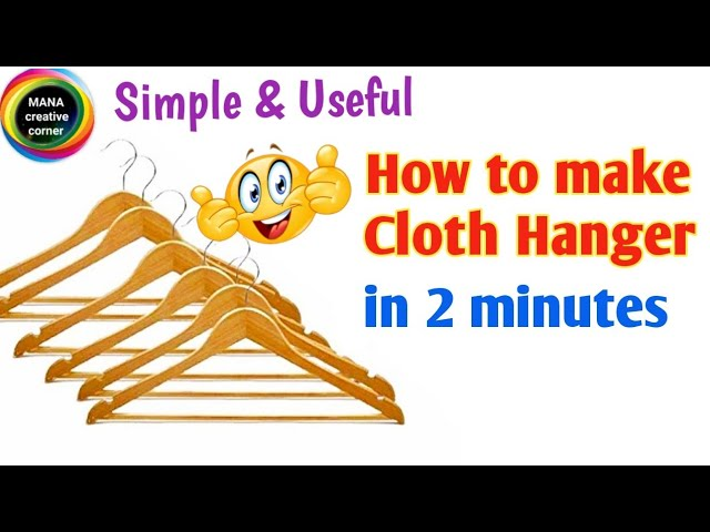 How to make Clothes Hanger at Home#Best out of waste hanger making idea#DIY clothes Hanger craft best out of waste# #waste popsicle sticks craft idea# Hi ...
