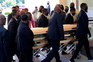 PHOTOS: Hundreds line up for George Floyd's memorial in Houston