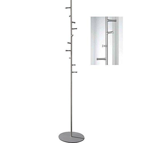 Amazon psba rotating coat rack stand hanger towel holder 10 hooks stainless steel matte