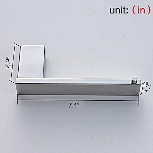 Discover the best auswind 4 piece wall mounted 304 stainless steel bathroom hardware set square base toilet paper holder towel bar towel rings clothes hook chrome