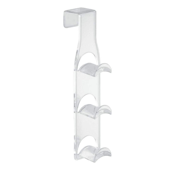Get mdesign plastic 3 tier over the door closet organizer rack for handbags purses backpacks totes 3 hooks 2 pack clear