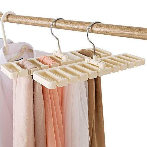 Order now gano zen sturdy plastic tie belt scarf rack organizer closet wardrobe space saver belt hanger with metal hook