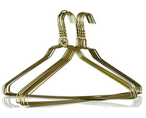 100 Gold Wire Suit Hangers 16 Inch 13 Guage (Strong) By Homeneeds Inc
