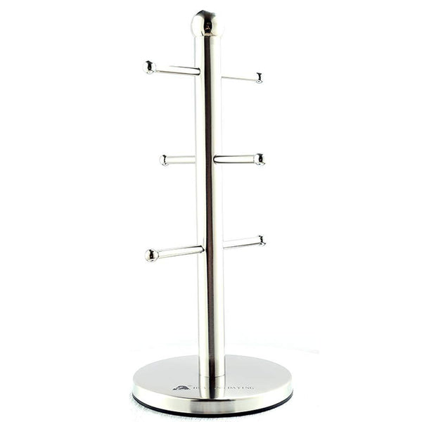 Shop here lian mug tree hanger holder mug tree with 6 hooks stainless steel cups draining stand 361414cm