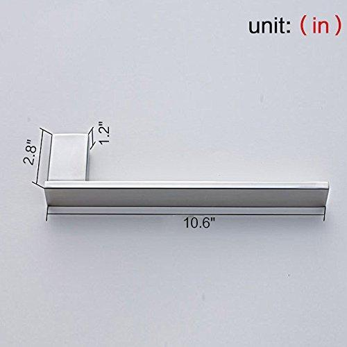 Discover the auswind 4 piece wall mounted 304 stainless steel bathroom hardware set square base toilet paper holder towel bar towel rings clothes hook chrome