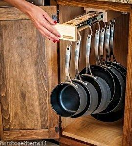 Discover the single glideware cookware organizer with 7 hooks