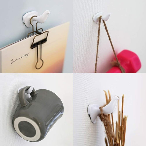 Shop hotlistor reusable multipurpose bird cubicle wall hooks clips decorative pin stick hooks office partition panel hanger cubicle accessories pins 6 bird hooks