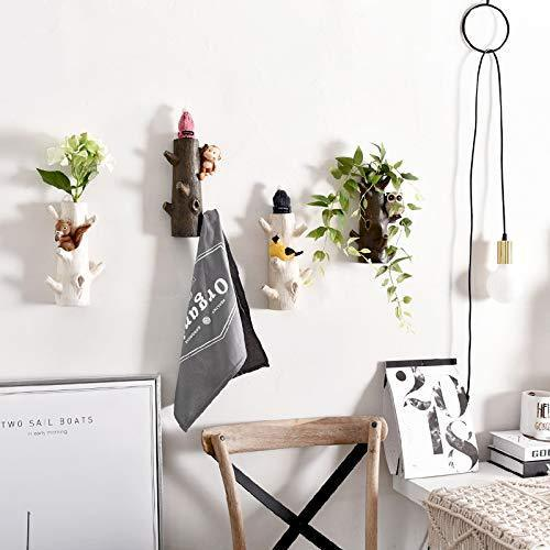 Try zamtac fashion floral coat rack door clothesroom wall mounted coat hook clothing rack key holder hat hanger wall hanger flower pot color k