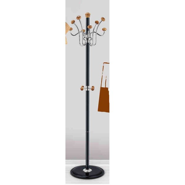 Coat Stand Rack Stainless Steel Simple Assembly Hangers Landing Creative Racks ( Color : Black , Size : B )