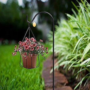 Selection easy fashion e f c202 shepherd hook 48 inch black 2 of sets premium metal rust resistant for hanging plants hanging plant baskets mason jars lanterns