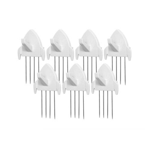 Discover panel wall clip por fabric panels paper wall metal pin cubicle hooks key hangers 7pcs white