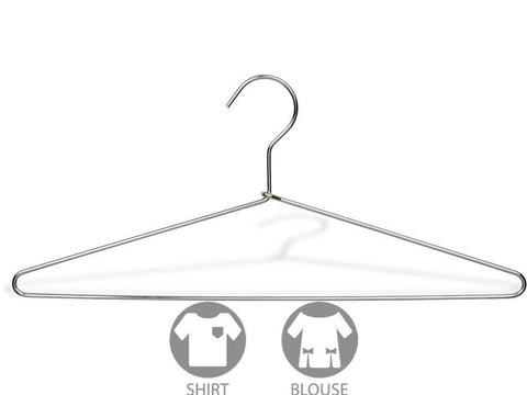 The Great American Hanger Company Slim Metal Suit Hanger, Box of 100 Thin and Strong Chrome Top Hangers for Shirt and Pants