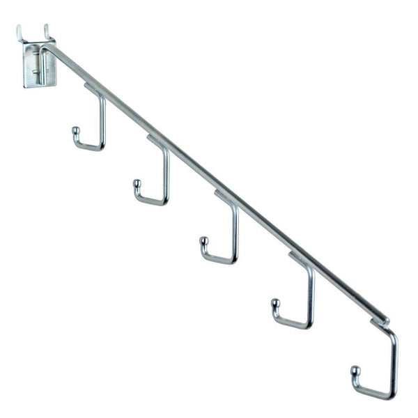 Organize with azar displays 700860 five station waterfall faceout hook chrome 10 pack
