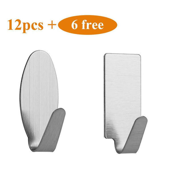 Selection mokaro towel adhesive hooks stainless steel damage free hanging hooks mini 18 hooks rectangle