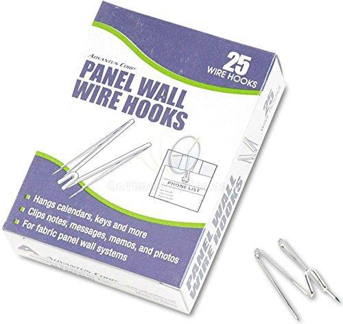 Save on advantus panel wall wire hooks silver 25 hooks per pack sold as 4 packs 75370 bundle includes plexon ballpoint pen