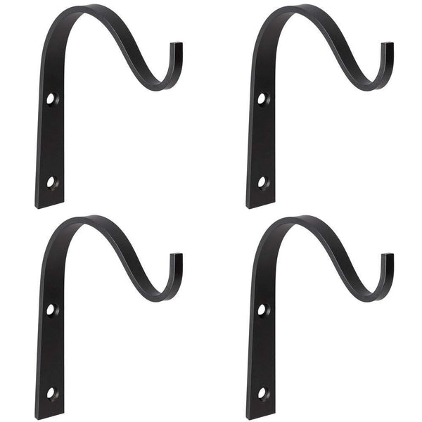 Cheap mkono 4 pack iron wall hooks metal decorative heavy duty hangers for hanging lantern planter bird feeders coat indoor outdoor rustic home decor screws included